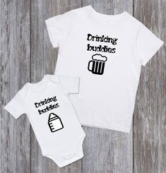 e05251f6 DAD and SON shirts Daddy Baby Shirt Dad and son matching shirts Father  Daughter Matching Shirts Family matching Drinking Buddies