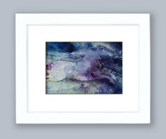 """Abstract Horse Watercolor Painting in Frame, Nursery Room, Shabby Chic, Cottage Style, Original """"Magical Horse 3"""" Kathy Morton Stanion EBSQ"""