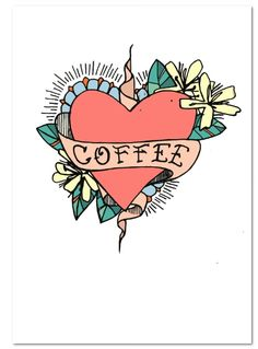 Coffee inspired Illustration by Jess Tobin aka Novice Art Work, Street Art, Illustration Art, Inspired, Coffee, Character, Inspiration, Artwork, Kaffee