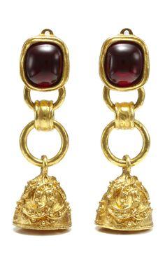 House of Lavande Vintage Three-Tier Chanel Dangling Bell Earrings