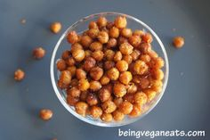 Oven Toasted Chickpea  - perfect snack for kids