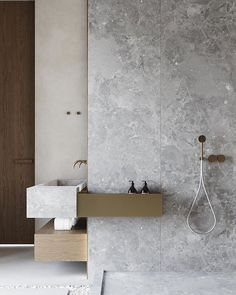 Dreaming of a designer or luxury bathroom? We've gathered together lots of gorgeous bathroom ideas for small or large budgets, including baths, showers, sinks and basins, plus bathroom decor ideas. Modern Master Bathroom, Minimalist Bathroom, Modern Bathroom Design, Bath Design, Bathroom Interior Design, Small Bathroom, Bathroom Ideas, Bathroom Designs, Bathroom Black
