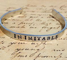 Hamilton Jewelry, And Peggy, My Etsy Shop, Silver Cuff, Musicals, Broadway, Bracelet, Eyes, Bangle