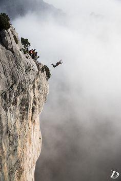 ddchxphoto:  Base Jump - Verdon - France © Damien Deschamps on...