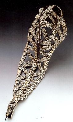 Papua New Guinea   Bridal Crown.  Shell and fiber.  Middle Sepik