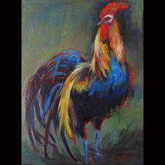 Rooster  Rooster Painting Original Painting door ingridspaintings