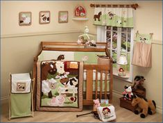 Nojo Farm Babies Nursery Crib Set Comforter Per Sheet Used