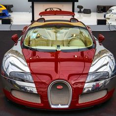 Red on Chrome Bugatti  Follow @List25 for a daily escape of fun, random and extreme facts @List25  Photo by @paul_skg #bugattiveyronred