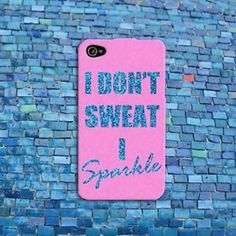 Cute Pink Sparkle Quote Funny Fitness Gym Workout Case Cover iPhone 6 4s 5 5s 5c