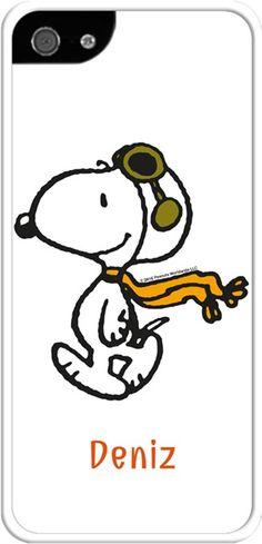 Pilot Snoopy - İphone 5/5S Kılıfları