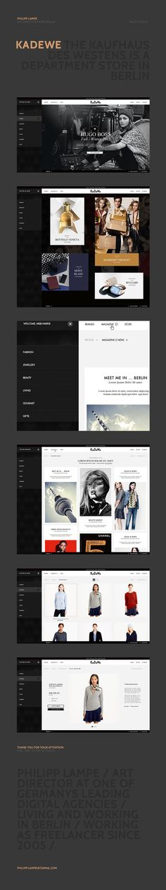 KaDeWe - Online Shop on Behance