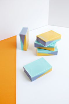 Color Blocked Soap DIY | A Beautiful Mess | Bloglovin'