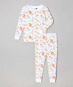 Love this Pink & Blue Candy Thermal Pajama Set - Infant & Toddler by Vitamins Baby on #zulily! #zulilyfinds