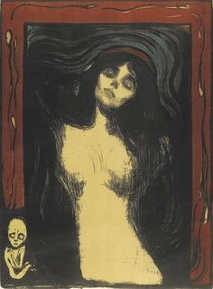 Edvard Munch. Madonna. 1895-1902. Lithograph and woodcut. This is another piece that I selected because I only knew one piece by the artist, The Scream. This piece caught my attention right away because of how dark it is, color and emotion.  It took me a couple of minutes to realize the meaning behind it all. I also found it interesting that there are many versions of this piece. The colors, medium, and borders change from piece to piece.