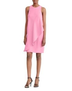 Lauren Ralph Lauren Asymmetric Overlay Shift Dress | Bloomingdale's