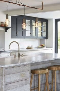 The Belton Collection Influenced By The Vintage Industrial Designs - Designer kitchen island lights