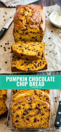 Pumpkin Chocolate Chip Bread is the perfect way to get in the mood for fall! It's the best simple recipe to make from scratch if you want a perfectly moist and delicious baked treat to enjoy with family!
