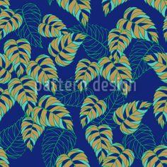 Birch Leaf At Night Design Pattern Vector Pattern, Pattern Design, Plant Vector, Vector File, Surface Design, Birch, Leaves, Patterns, Night