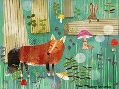 Magical Fox Forest -  Amy Schimler