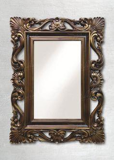 Зеркало в стиле Винтаж Золотистый Орех