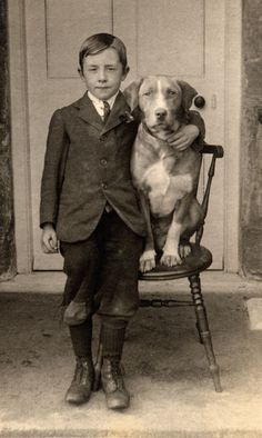 A boy and his dog..... Timeless.
