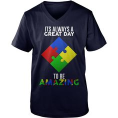 It's a Great Day To Be Amazing Puzzle Autism T-shirt T-Shirt #gift #ideas #Popular #Everything #Videos #Shop #Animals #pets #Architecture #Art #Cars #motorcycles #Celebrities #DIY #crafts #Design #Education #Entertainment #Food #drink #Gardening #Geek #Hair #beauty #Health #fitness #History #Holidays #events #Home decor #Humor #Illustrations #posters #Kids #parenting #Men #Outdoors #Photography #Products #Quotes #Science #nature #Sports #Tattoos #Technology #Travel #Weddings #Women