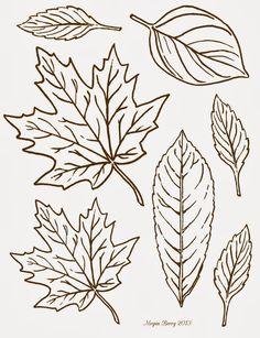 autumn leaves free printables clip art riscos pinterest