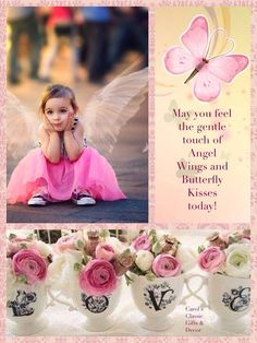 May you feel the gentle touch of Angel Wings and Butterfly Kisses today! Collages, Good Morning Beautiful People, Pastel Home Decor, Love Backgrounds, Mood Colors, Colours, Towel Crafts, Beautiful Collage, Good Morning Wishes