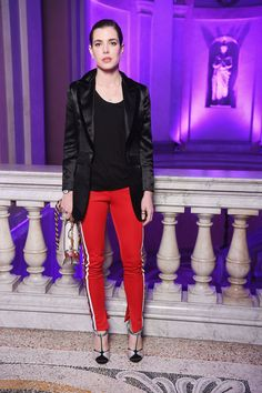 Monaco's Charlotte Casiraghi at Fashion Week Shows Giambattista Valli and Stella McCartney