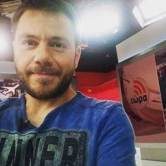 """Καλημέρα! Ευχαριστώ για την φιλοξενία την εκπομπή """"Τώρα"""" του #skaitv και την οικοδέσποινα Μπουσδούκου Άννα @annakynthia. #happytraveller #twra #skai #live"""