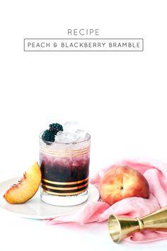 Peach and Blackberry Bramble Cocktail Recipe