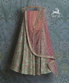 Swati Manish - Available Lehengas Indian Gowns Dresses, Indian Fashion Dresses, Dress Indian Style, Indian Designer Outfits, Lehenga Choli Designs, Designer Bridal Lehenga, Pakistani Wedding Outfits, Indian Bridal Outfits, Indian Lehenga