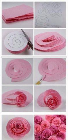 ... Crepe Paper Roses ....