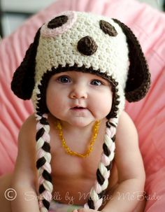 Adorable Cuddly Puppy Hat  Crochet Baby Hat  Boy or by sophelli, $21.00