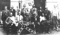 """Mostly Cherokee men who fought for the Confederate Army in the """"""""Cherokee Battalion"""""""" of the 69th North Carolina Regiment, under Col. William Holland Thomas during the Civil War, attending a Reunion in New Orleans, Louisiana"""