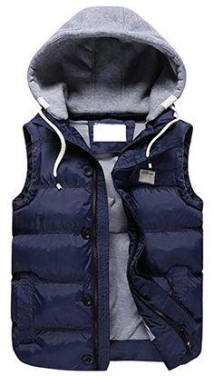 Winter Fashion New Casual Slim Cotton Vest Coat for Men Male New Mens Fashion, Winter Fashion, Style Fashion, Chaleco Casual, Winter Hats For Men, Mens Winter, 2016 Winter, Vest Coat, Jacket Men
