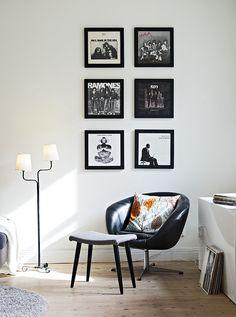 Wie goed kijkt ziet de Art Vinyl Display Frames. Hang je favoriete platen aan de muur!
