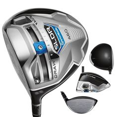 Offering a stunning modern-classic shape with charcoal gray crown these mens SLDR golf drivers feature a low-forward CG to promote high launch, fast ball speed and low spin for phenominal distance