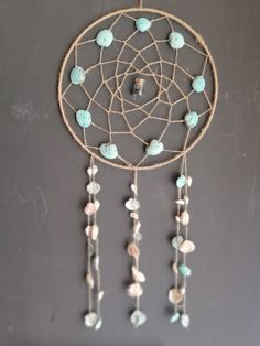 Handmade dreamcatchers and paintings by DreamsAndSubmarines Dreamcatchers, Wind Chimes, Shells, Etsy Seller, Ocean, Turquoise, Create, Handmade, Painting