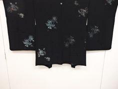 大正ロマン 薔薇模様織り出し一つ紋羽織