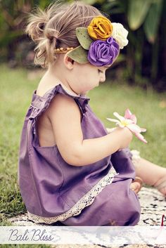 headband, flowers, baby, diy