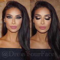 """The final look from my @DressYourFace Masterclass Tour Finale in Dubai on the gorgeous @mariam ❤️ Wearing @lashdubai in Sheikha #dyfdoublecutcrease •…"""
