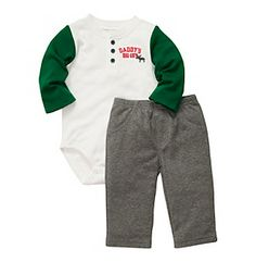 Carter's® Baby Boys' Ivory/Grey Daddy's Big Guy Bodysuit and Pants Set