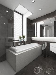 Moderní koupelna WINTER - vizualizace Bathroom Inspiration, Portfolio Design, Bathtub, Studio, Deco, Home Design, Bathrooms, Portfolio Design Layouts, Standing Bath