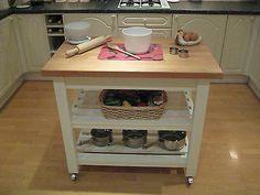 Shabby Chic Butchers block kitchen Island Unit Table Farrow & Ball Laura Ashley