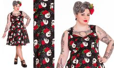 #PlusModelMag Sponsored Plus Trend: Hell Bunny Skull Spiderweb Rock and Ruin Dress at Mystic Crypt @PlusModelMag