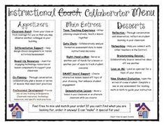 How can you provide teachers with an idea of what you have to offer as their Instructional Coach? This is an Instructional Coaching Menu for you to provide your teachers throughout the school year. Instructional Coaching, Instructional Technology, Instructional Strategies, School Leadership, Educational Leadership, Leadership Coaching, Leadership Development, Personal Development, Mbti