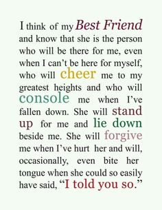 Cute best friend quotes fresh cute best friend quotes lovely 37 true friends quotes and sayings Best Friends Sister, Cute Best Friend Quotes, Bff Quotes, Best Friend Gifts, Girl Quotes, Friendship Quotes, Cute Quotes, Quotes To Live By, Funny Quotes