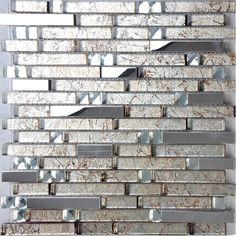 Kitchen Backsplash Samples metal glass tile backsplash stainless steel wall crystal glass