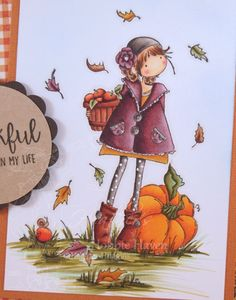 Step by step instructions for Copic Coloring Card Kit Fay Loves Fall stamp by Stamping Bella. (Sorry This card kit is SOLD OUT) ——— S U P P L I E S ——— • Cop...